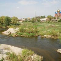 Сердобск. Вид части города с собором из-за р. Сердобы, Сердобск