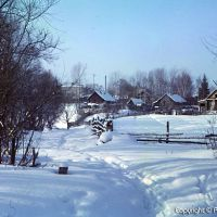 Зима - январь 1990г. поселок Сосновоборск, у речки Тешнярь, Сосновоборск