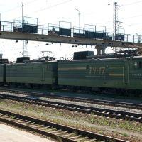 Электровоз ВЛ11-233Б+234, ст. Верещагино Свердловской ЖД / Electric locomotive VL11-233B+234, station Vereshchagino of Sverdlovsk division of RZD (15/06/2008), Верещагино