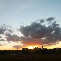 Закат. Вид на КХП, Верещагино
