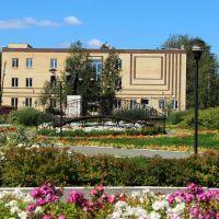 Центральная площадь города летом, Верещагино
