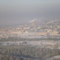 Горнозаводск. Зима. Вид с вертолёта, Горнозаводск