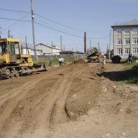 Ремонт дороги у школы, Кочево