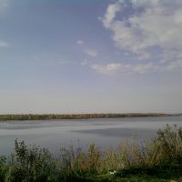 Вид на Каму с набережной Краснокамска, Краснокамск