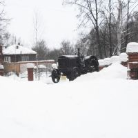 Трактор в краеведческом музее Кудымкара., Кудымкар
