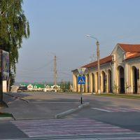 Улица Октябрьская. Гостиный Двор и городской парк, Кунгур