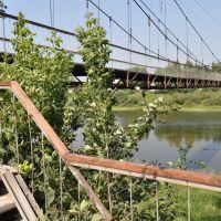 Подвесной мостик над Сылвой  у улицы Советской, Кунгур