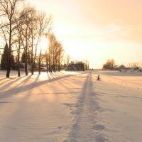 Зимняя тропа вдоль стадиона, Ныроб