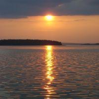 Нытвенский пруд на закате, Нытва