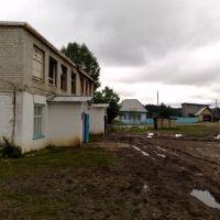 Правление после пожара, внизу 2 магазина продолжают работать., Октябрьский