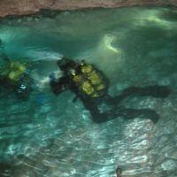 Ordinskaya cave - the longest in the world in gypsum underwater cave. Ординская пещера - самая длинная в мире среди гипсовых подводных полостей.Пермский край, Орда