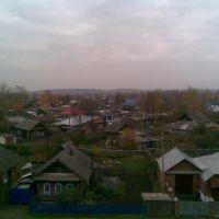 Оса, вид сверху с улицы Степана Разина рядом с центром, Оса