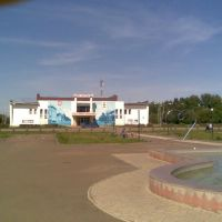 Дом культуры и фонтан, Оса