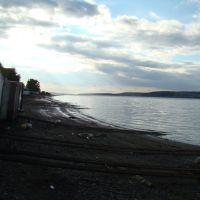 Лодочные домики вдоль берега, Оса