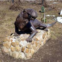 Ивантоза́вр ( Ivantosaurus ensifer), Парк Пермского периода. Очер, Пермский край, Очер