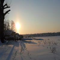 Очёрский пруд зимой, Очер