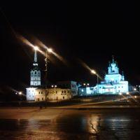 Центр города ночью 14.11.10, Соликамск