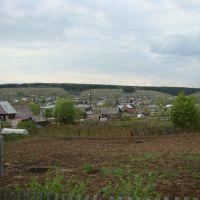 Вид на Уинск из огородов, Уинское