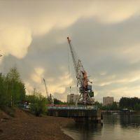 Вид на Речной порт, Чайковский