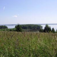 Степковка, вид на Каму со старой дороги в Пожву, Чернореченский