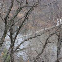 Вид на подвесной мост, Горные Ключи