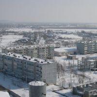 с. Полевое, вид с крыши Хлебозавода, Горный
