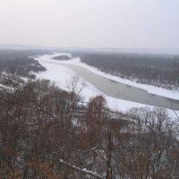 Уссури со смотровой площадки 429 км. а/д Хабаровск- Владивосток, Горный