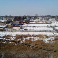 Вид посёлка с моста, Лесозаводск