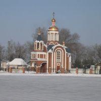 площадь возле ЖД вокзала станции Ружино, часовня, Лесозаводск