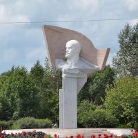 Monument to Lenin in Luchegorsk, Лучегорск