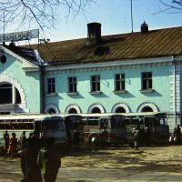 Nakhodka, Russia, spring 1976. The TIKHOOKEANSKAYA railway station., Находка