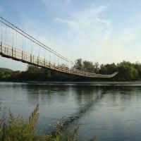 висячий мост новокрещенка, Новопокровка