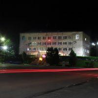 Администрация городского округа ночью, Партизанск