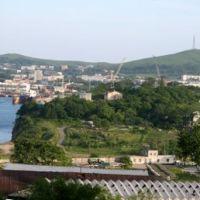 полная панорама п. Славянка с Северо-Запада | Full panorama of Slavyanka from northwest, Славянка