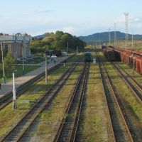 a views over railway viaduct on Khasan station, Хасан