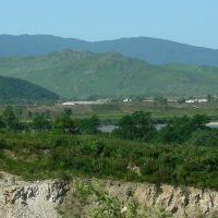 An der Grenze zu Nordkorea: Blick auf Tumangang., Хасан