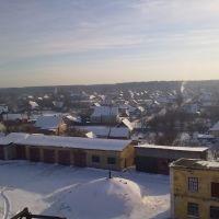 Вид с крыши ЭЧ (30 января 2012 года)., Дно
