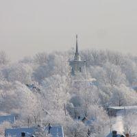 Вид на ж.д.вокзал с крыши общежития(х20), Дно