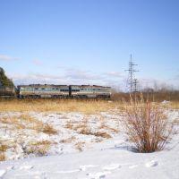 Железная дорога в Локне. Весна 2011., Локня