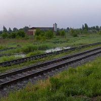 Утро на станции Локня. Вид в южном направлении., Локня