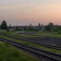 Утро на станции Локня. Вид в северном направлении., Локня