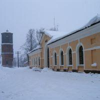 Вокзал Невель II зимой., Невель