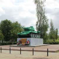Норожев. Танк-памятник. 26.08.2012, Новоржев