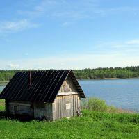 Брустинское озеро, Остров