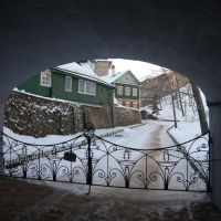 The winter in monastery, Печоры