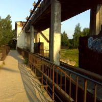 Пешеходная дорога через ГЭС, Порхов