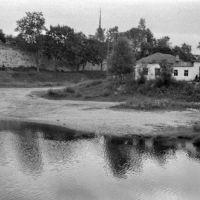 Порхов. р.Шелонь и крепостная стена. 07/1956г., Порхов