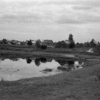 Порхов. Домики на излучине р.Шелони. 07/1956г., Порхов
