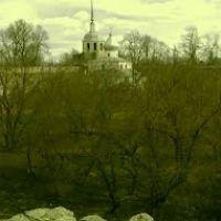 внутренняя территория средневековой каменной крепости Порхов, Порхов