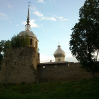 Porkhov fortress tower and church, Порхов